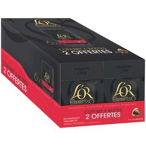 60 Capsules de café L'Or Maison du café compatible nespresso