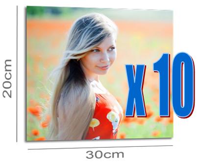 10 agrandissements photos 20x30cm PREMIUM gratuits (2.93€ frais de port)