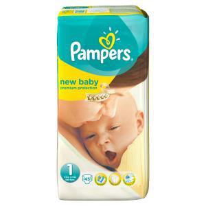 Paquet de 45 couches Pampers New Baby T1 Nouveau-né 2-5Kg