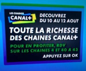 Les chaines Canal+ gratuites sur les Box TV Internet