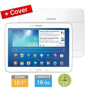 Tablette Samsung Galaxy Tab 3 10'' Blanche + Cover (ODR 50€)