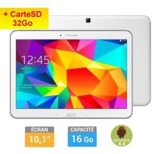 Tablette Samsung Galaxy Tab 4 10'' Blanche + Carte SD 32Go