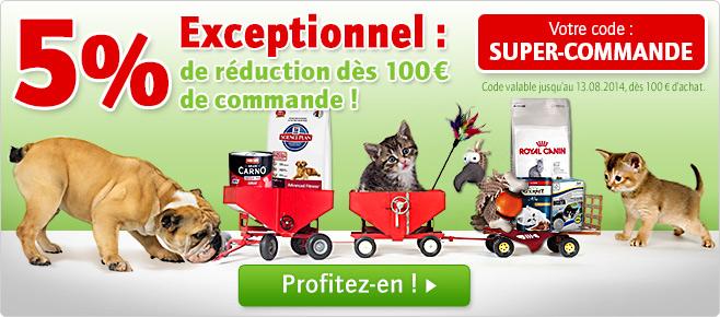 -5% de réduction dès 100€