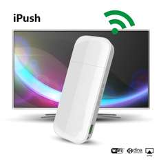 Dongle multimédia iPush D2 Wi-Fi/DLNA pour Android/iOS - Blanc