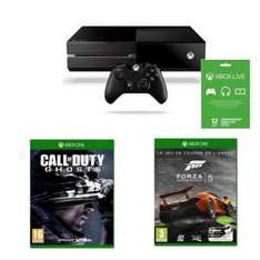 Console Xbox One + Forza 5 + Call of Duty Ghosts + Live 12 mois
