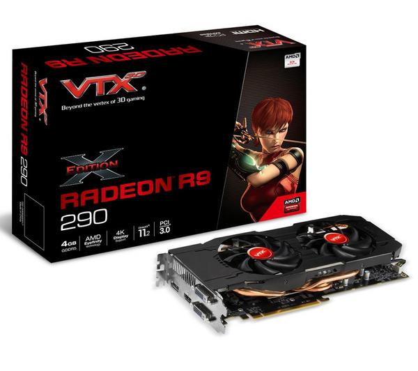 Carte graphique VTX3D Radeon R9 290 PCIE 3.0 4Go GDDR5 X-Edition