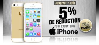 5% de réduction sur tous les iPhones