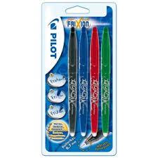 Lot de 4 stylos effaçables Pilot Rollers Frixion