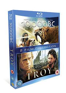 Coffret 2 Blu-ray Troie + 10,000 BC