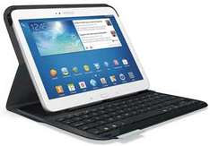 "Clavier Bluetooth Logitech avec Etui folio pour Samsung Galaxy Tab 3 10"""