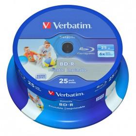 Sélection de Blu-ray vierges en promotion - Ex : 25x Blu-ray Verbatim DataLife 25 Go (Port : 9.95€)