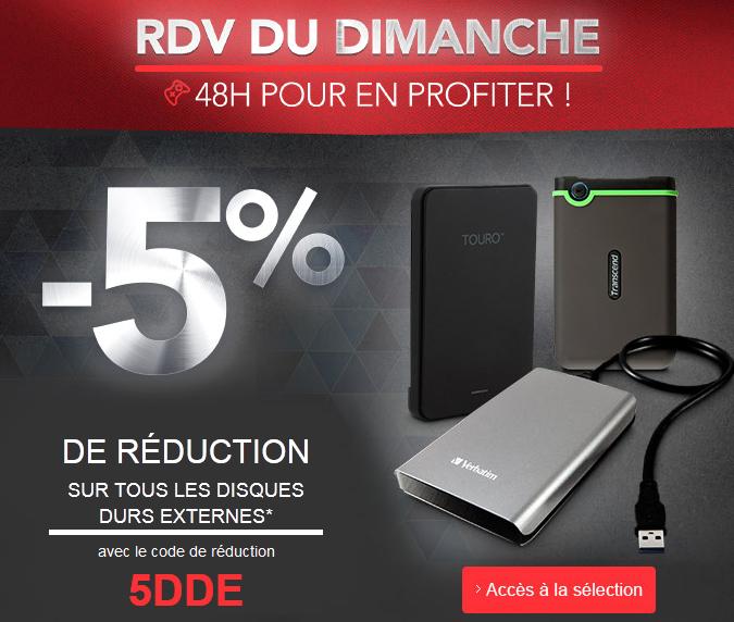 -5% sur tous les disques durs externes