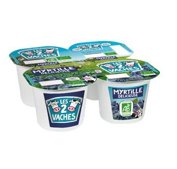 Pack de 4 yaourts Les 2 vaches myrtilles sauvages (Via Shopmium)