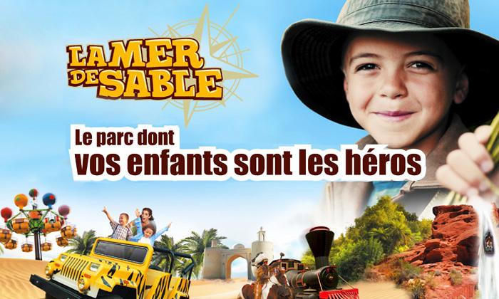 """1 place pour le parc """"La Mer de Sable"""" à Ermenonville"""