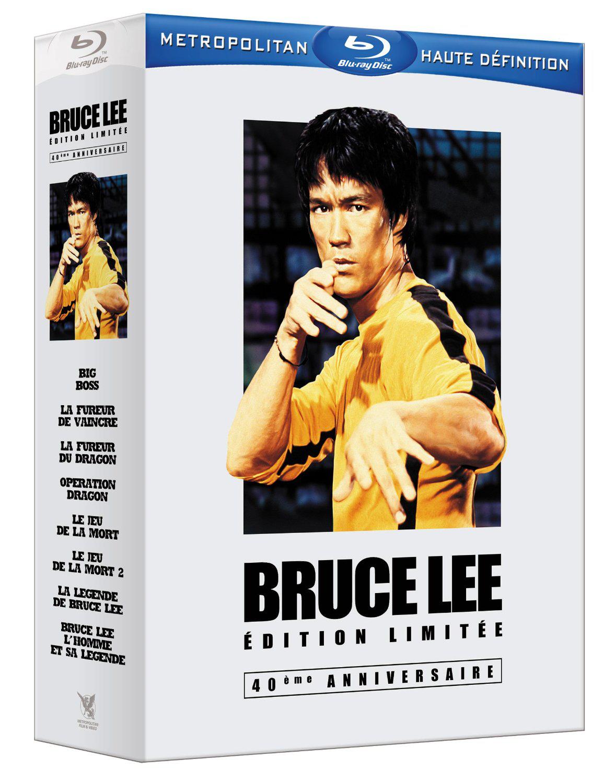 Coffret Blu Ray Bruce Lee Édition Limitée 40ème Anniversaire (6 films + 2 documentaires + livres)