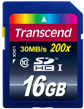 Carte mémoire SDHC Classe 10 Transcend 16 Go