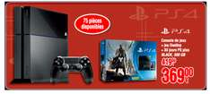 Console Sony PS4 + Destiny + 30 jours d'abonnement au PlayStation+