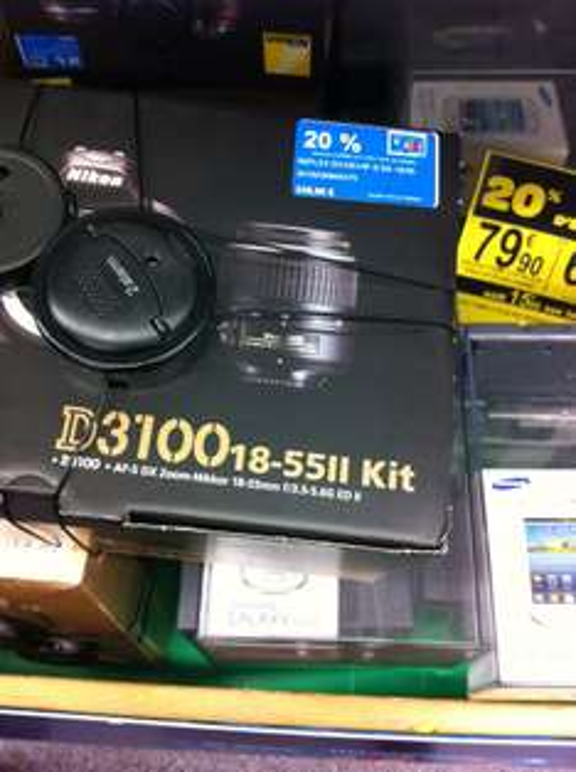 De -20% à -50% sur la carte Carrefour sur une sélection d'appareils photo - Ex : Reflex Nikon D3100 + 18-55mm (Avec 67.8€ sur la carte)
