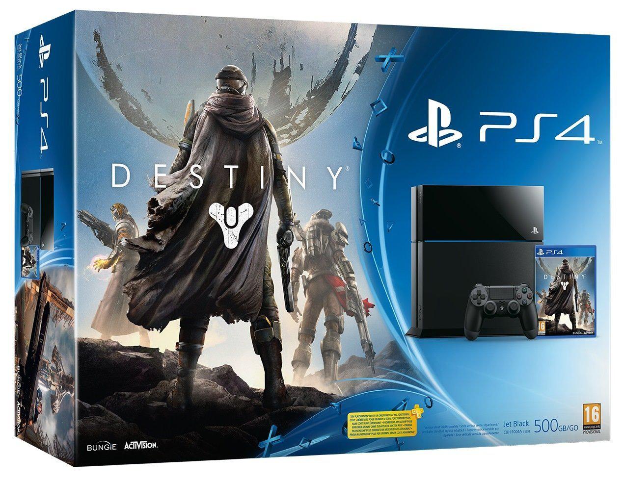 Console Sony PS4 + Destiny ou InFamouse Second Son ou The Last Of Us Remastered (+ 80€ en bon d'achat)