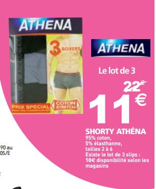 Lot de 3 boxers Athena