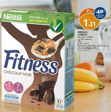 Céréales Nestlé Fitness noisettes 375g