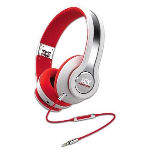 Casque audio MTX iX1 - Blanc/rouge