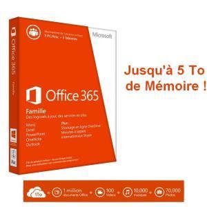 Logiciel Office 365 Famille – 5 PC / Mac + 5 tablettes/Ipad