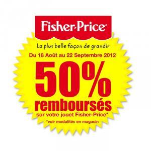 ODR de -50% sur votre jouet Fisher-Price