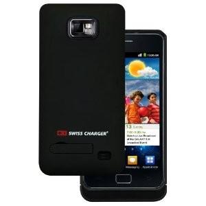 Coque Swiss Charger G Power avec batterie intégrée pour Samsung Galaxy S2