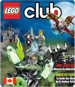 Abonnement gratuit de 2 ans au Magazine LEGO Club