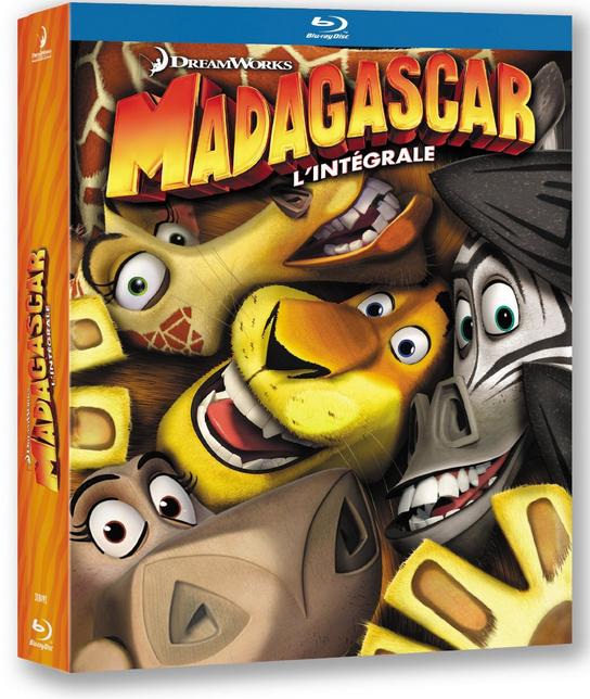 Coffret Blu-ray Trilogie Madagascar 1 à 3