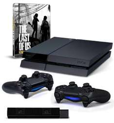 Console Sony PS4 500 Go Noire + 2nde manette + Caméra + The Last of Us Remastered