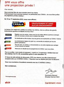 Les Chaines Canal+ gratuites du 14 au 17/09/2012 pour les abonnés