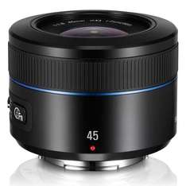 Objectif Samsung EX-S45ANB 45 mm f 1,8 pour monture NX - Noir