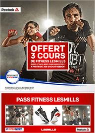 3 cours de fitness Les Mills offert pour 20€ d'achat Reebok chez Intersport