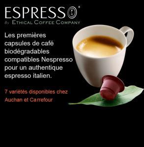 Café Espresso By Ethical Coffee Company (pour Nespresso) 100% remboursé