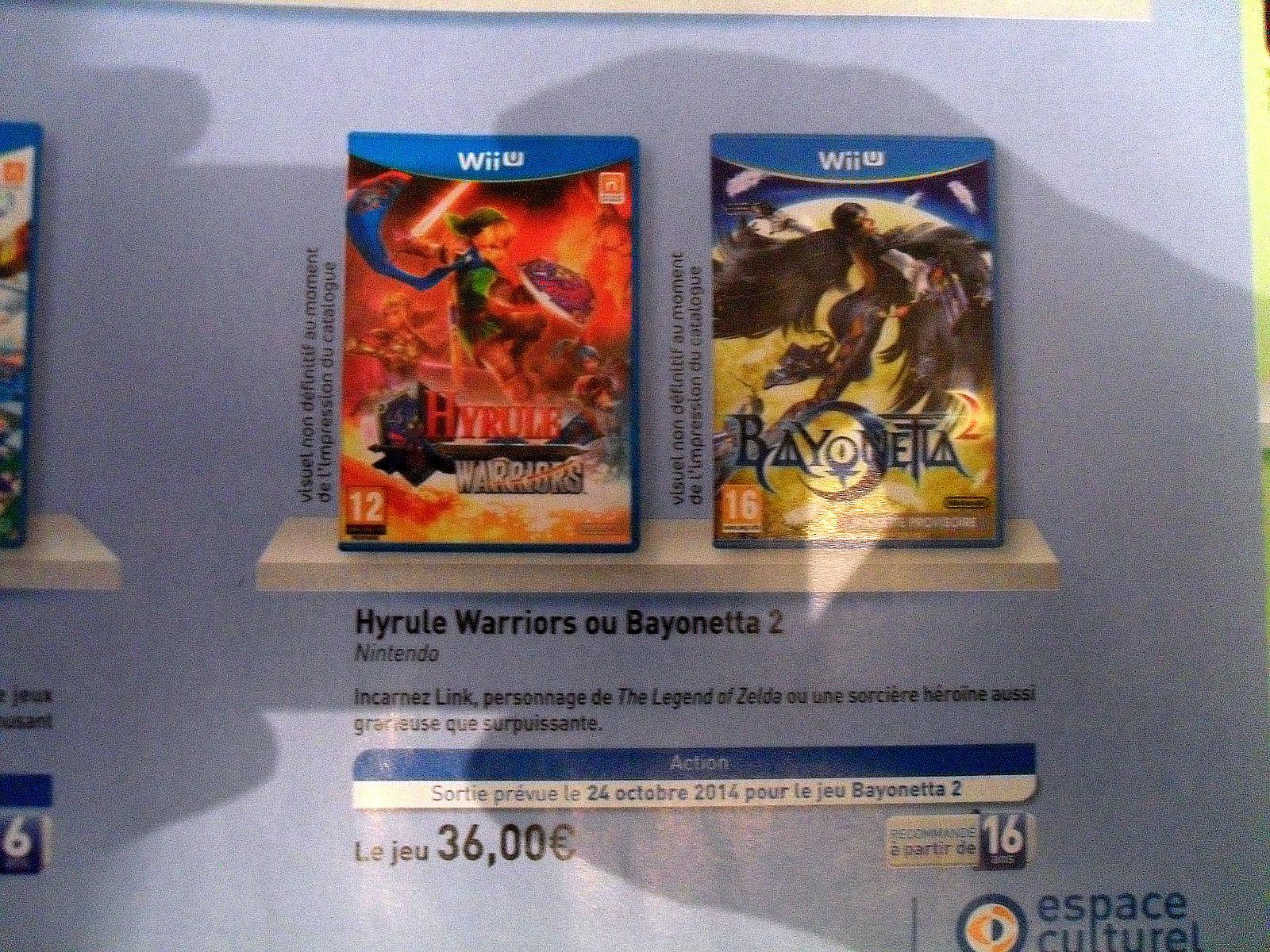 Hyrule Warrior ou Bayonetta 2 sur Wii U, l'unité