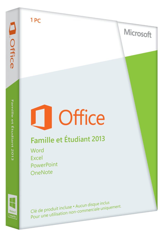 Microsoft Office 2013 famille étudiant