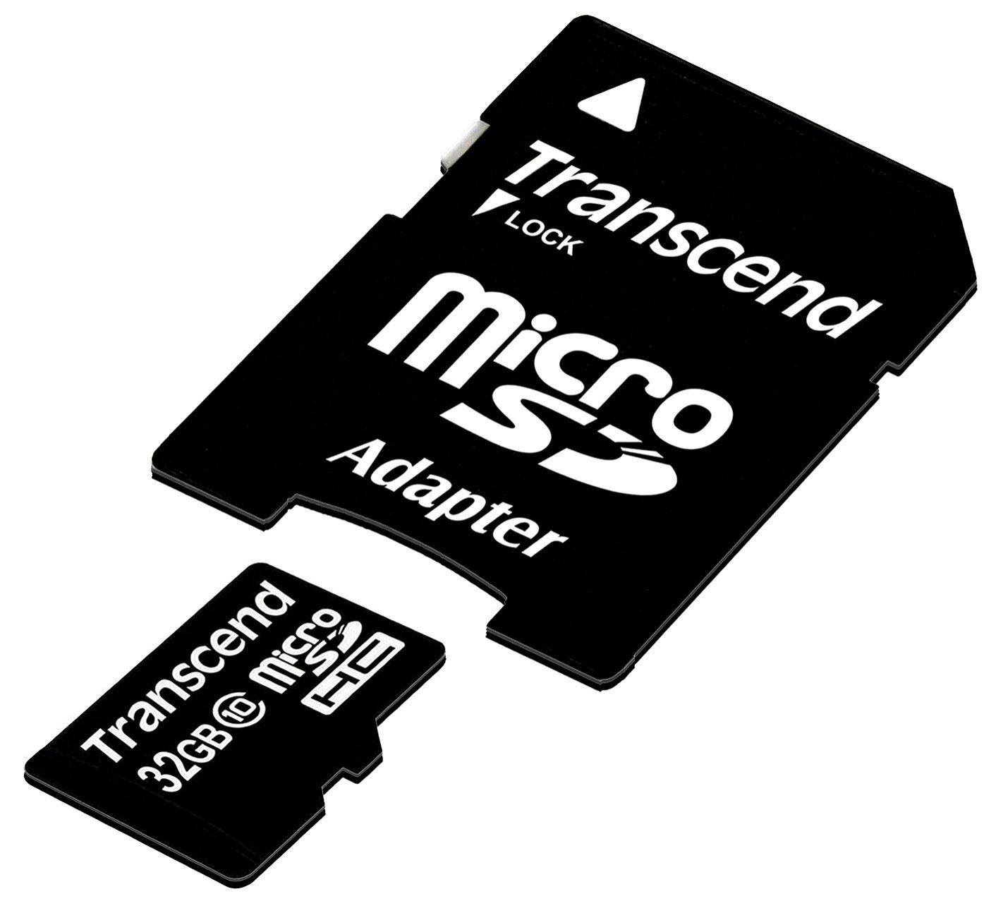 Carte mémoire microSDHC Transcend 32 Go Classe 10
