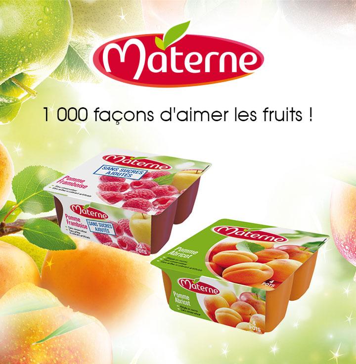Compotes Materne 4x100 gr (via shopmium)