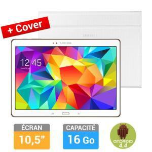 Tablette Samsung Galaxy Tab S 10'' Blanche + Etui Book Cover (avec ODR de 70€ + 20€)