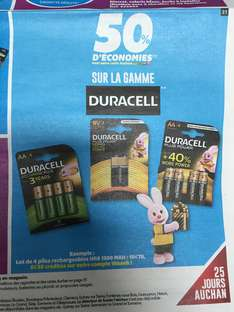 Piles Duracell Ultra Power x4 LR06 OU LR03