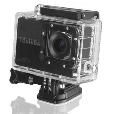 Pack Caméra sportive Toshiba Camelio X Sports noir + micro SDHC LExar USH-I (300) 32 go