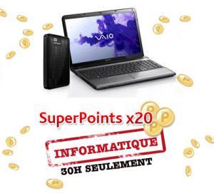 Superpoints X20 sur toute l'informatique