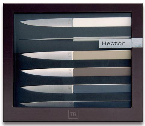 Coffret 6 Couteaux Steack Tarrerias Bonjean Hector 11 cm