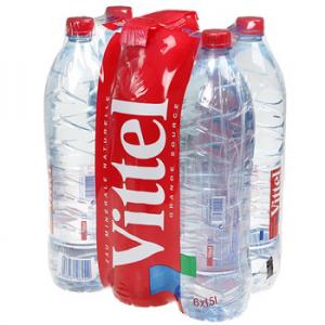 2 packs d'eau Vittel de 6x1.5L (le 2ème gratuit)