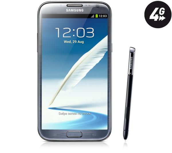 Smartphone Samsung Galaxy Note 2 4G titanium 16 Go