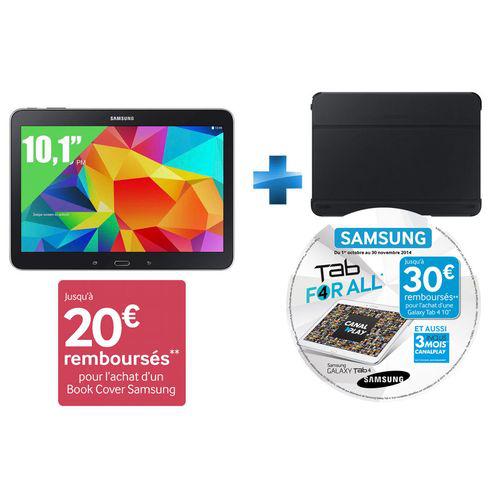 Tablette samsung Galaxy Tab 4 10.1'' - 16 Go - Wifi + Cover Samsung officiel (ODR 50€)