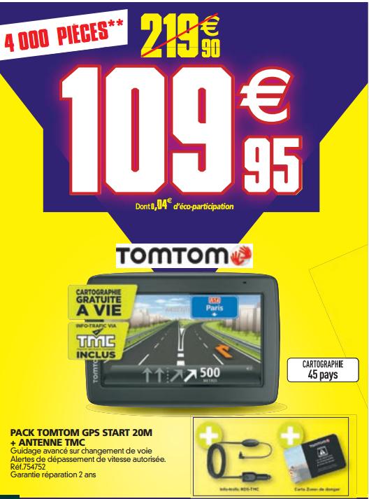 Pack TomTom GPS Start 20M + Antenne TMC