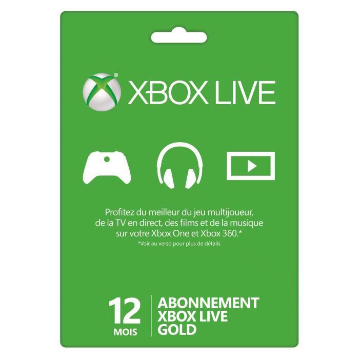 Abonnement XBOX Live Gold 12 mois + Batterie Pour Manette XBOX One et Cordon 3m Konix